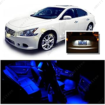 Ameritree Nissan Maxima 2009 2014 (11 Pieces) Blue LED Lights Interior  Package And