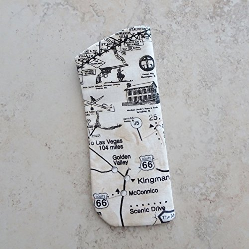 Eyeglass Case, Route 66 Fabric Case for Glasses, Sunglasses ()