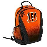 FOCO NFL Cincinnati Bengals Logo Gradient Print Primetime Deluxe Backpack, Team Color, Standard