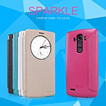 Nillkin LG G4 Sparkle Leather Case-Retail Packaging-Golden