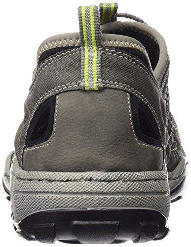Rieker 08065 Sneakers-men - Zapatillas Hombre Gris - Grau (cement/cenere/schwarz / 40)