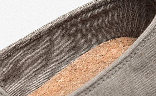 Pigri Da In Tela Tela Da Scarpe Uomo Scarpe Scarpe Di Pescatore Scarpe Confortevole Casual Grey Moda aqHFqx