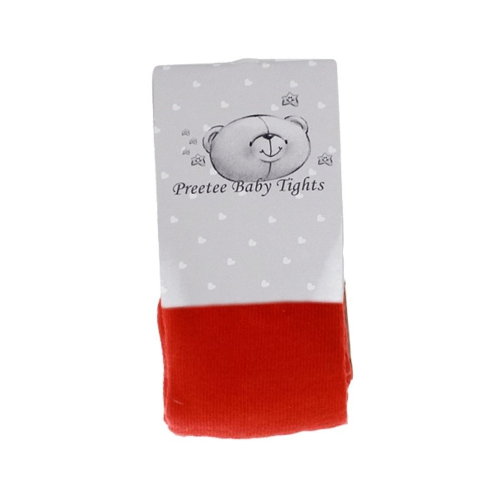 Red Baby cotton rich tights by Preetee Baby (Newborn)
