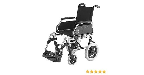 Silla de ruedas Breezy 250 en acero cromado con ruedas pequeñas de 12