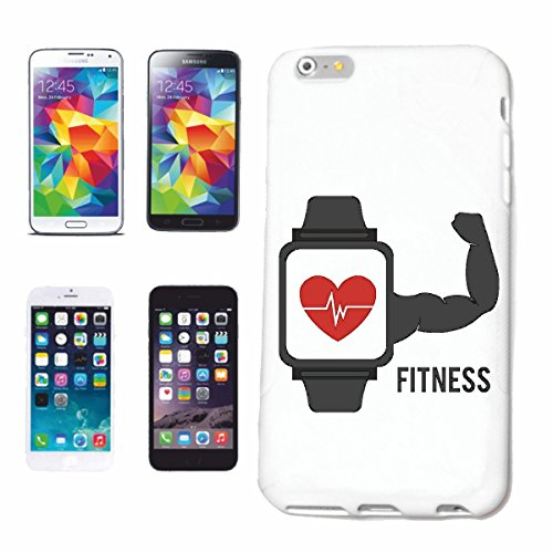"cas de téléphone iPhone 7S ""Musculation FITNESS MUSCULATION GYM GYM muskelaufbau SUPPLEMENTS WEIGHTLIFTING BODYBUILDER"" Hard Case Cover Téléphone Covers Smart Cover pour Apple iPhone en blanc"