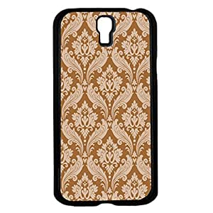 Whte and Tan Vintage Floral Pattern Hard Snap on Phone Case (Galaxy s4 IV)
