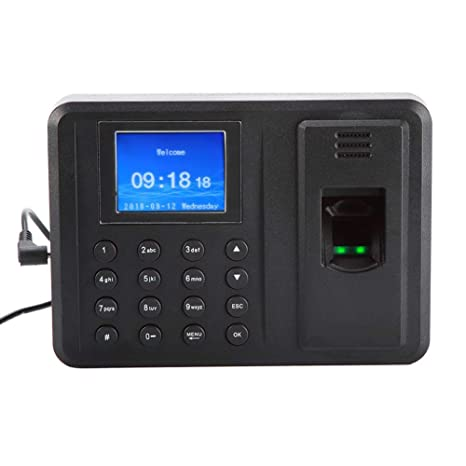 Máquina de Asistencia de Huellas Dactilares, Pantalla biométrico Reloj Registrador de Tiempo para el Registro