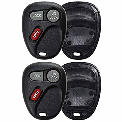 KeylessOption Just the Case Keyless Entry Remote Key Fob Shell (Pack of 2): Automotive