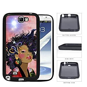 Retro Love Afro beauty Rubber Silicone TPU Cell Phone Case Samsung Galaxy Note 2 II N7100