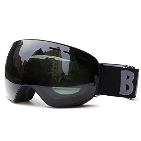 f0ace0efcfa BE NICE Ski Goggles Interchangeable Lens Snow Goggles Anti fog UV  protection for Men   Women