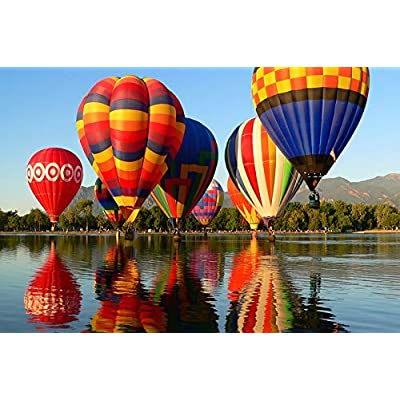 Jigsaw Puzzles, 1000 Piece Puzzles for Adults Intellectual Game Toy Learning Educational Decompression Toys for Adults Kids - Hot Air Balloon: Toys & Games