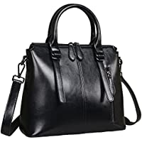 Heshe Womens Leather Shoulder Handbags Tote Top Handle Bags Crossbody Handbag and Satchel and Purse for Ladies