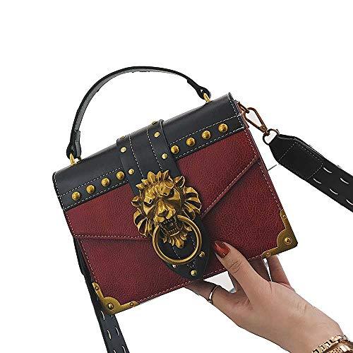 f78a135e23a3 Luxury Shoulder Bags Female Lion Head Lock Handbag Women PU Leather  Messenger Crossbody Bags Fashion Party