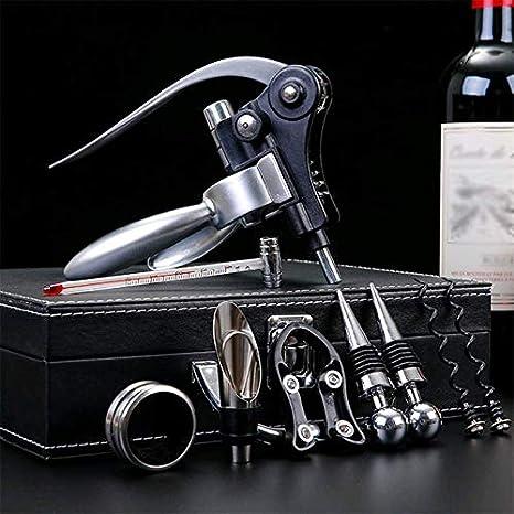 Bronze-Geschenkbox MoGist Zinklegierung Korkenzieher Wein /Öffner Kit Weinflaschen/öffner Zubeh/ör mit 9 Teilen Flaschen/öffner f/ür Weinflaschen