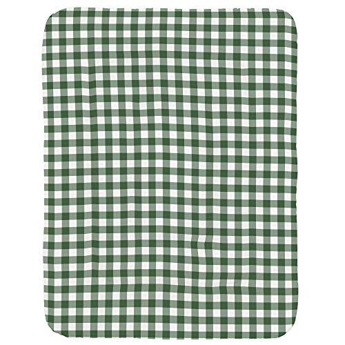 Carousel Designs Evergreen Gingham Crib Comforter ()