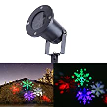 Outdoor LED Landscape Lights,Christmas Snowflake Projector Lights, LED Decorative Spotlight Lamp With Ground Spike, LED Wall lights, DJ Lights, Waterproof IP65 LED Garden lighting, Plug and Play