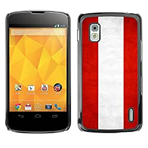 YOYO Slim PC / Aluminium Case Cover Armor Shell Portection //Austria Grunge Flag //LG Google Nexus 4 by icecream design