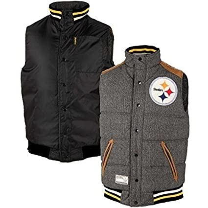 ae70094f G-III Sports NFL - Pittsburgh Steelers Legacy Button-Up Reversible Vest -  NFL