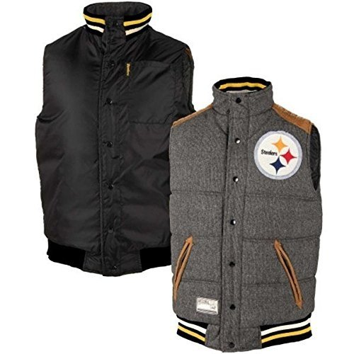 546787c3 Amazon.com : G-III Sports Pittsburgh Steelers Legacy Button-Up Reversible  Vest - NFL Football Team Apparel : Sports & Outdoors