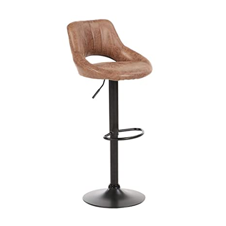 Pleasing Amazon Com Suede Leather Adjustable Swivel Bar Stool With Gmtry Best Dining Table And Chair Ideas Images Gmtryco