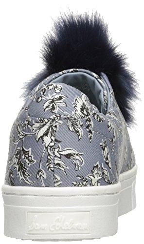 Sam Edelman Frauen Leya Fashion Sneaker Dusty Blue Sketched Blatt Stoff