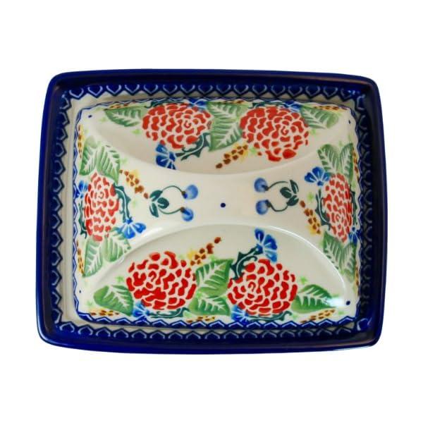 Polish Pottery Ceramika Boleslawiec 0352/280 Butter Dish Deep, 2-Cubes