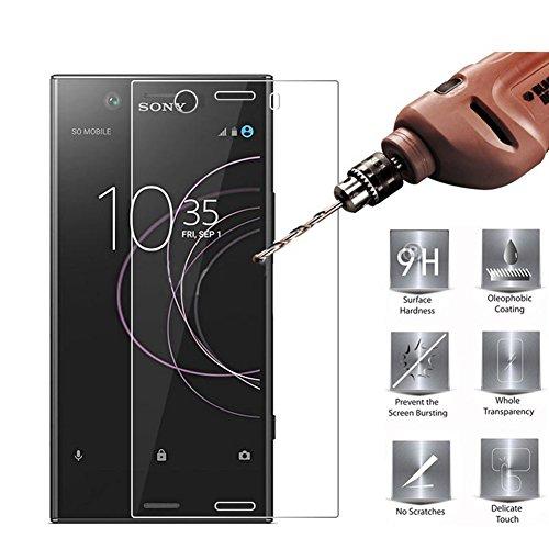 洞窟ゴミオッズ【3枚入り】Sony Xperia XZ1 Compact SO-02K 強化ガラスフィルムSony Xperia XZ1 Compact液晶保護フィルム2.5D ラウンドエッジ加工 HD 撥油性 疎水性 指紋防止 飛散防止 耐衝撃Hongkuzhi