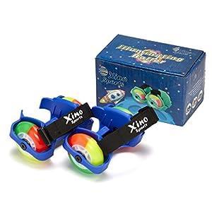 XinoSports Illuminating Rollers, Heel Wheels - 3 Exciting Colors, Heel Skates