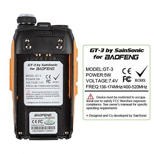 Chipsets Upgraded FM Radio Dual Band BaoFeng GT-3 Mark-II+Remote Speaker Pofung Transceiver