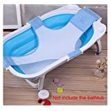 HUAJI Baby Bathtub Mesh Seat Support Sling Net Infant Bath Tub Hammock Blue