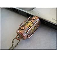 Handmade 128GB Metal Arc Hi-Speed USB 3.0 Flash Drive. Steampunk/Industrial style ####### (Tags: Stick Thumb Pen Key Drive Storage Memory Disk. Metal Handwork Handcraft Exclusive Unique Best Cool Great Retro Vintage Gadget Device. Idea for Christmas New Year Birthday Present Gift. For Geek Man Him Dad Boy Teen. For Computer Tablet PC Notebook Laptop Mac)