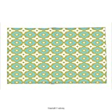 Custom printed Throw Blanket with Ceramic Tile Decor by Floral Shaped Soft Pastel Toned Ornate Islamic Mosaic Style Pattern Khaki Turquoise Super soft and Cozy Fleece Blanket