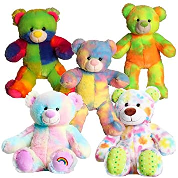 bfedc7bc457 Splodge Teddy Bear Making Parties - 5 x 10 quot  Colourful Cuddles Bears  Party Pack