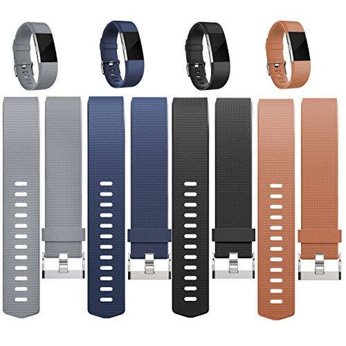 Replacement Bands for Fitbit Charge 2, Fitbit Charge2 Wristbands,Small,Black,Navyblue,Grey,Coffee