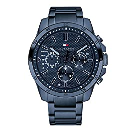 Tommy Hilfiger Mens Multi dial Quartz Watch with Stainless Steel Strap 1791560