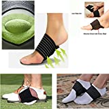 JERN Extra Thick Cushioned Compression Arch Support with More Padded Comfort for Flat and Achy Feet (Unisex) - 1 Pair
