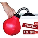 REEHUT Desktop Punching Bag/Ball Stress Buster, Stress Relieve, with Strong Suction Cup, Pump Equipped, Designed for Work, a Great Gift for Yourself, Boss and Co-Workers
