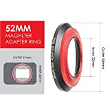 MagFilter 52mm Threaded Adapter Ring with Carrier Bag for Sony, Canon, Nikon, and Panasonic