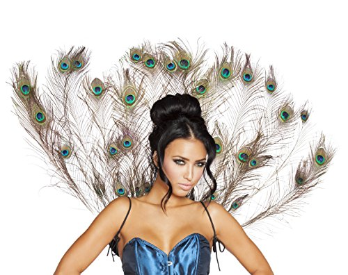 (Roma Costume Women's Peacock Tail Feather, Multi One)