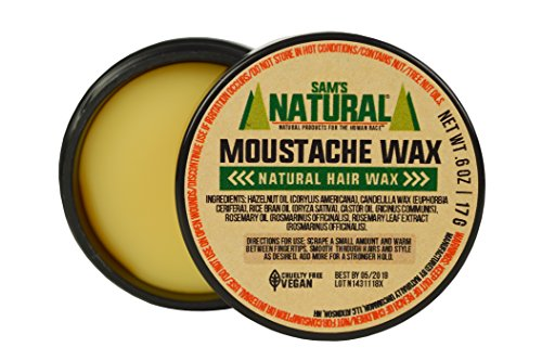 Sam's Natural Moustache Wax – Moustache/Mustache Wax – Natural – Vegan and Cruelty Free – America's Favorite