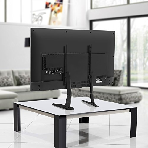 """-[ SIMBR TV Stand Universal Table Top Desk Pedestal Monitor Riser for Most 17"""" - 55"""" LED,"""