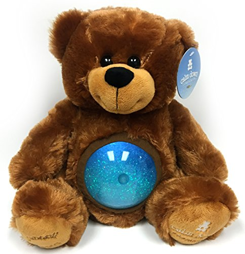 Tranquil-Teddy-Bear-12-Plush-Stuffed-Animal-Multi-Sensory-Toy-Perfect-Bedtime-Sleep-Toy-Relaxation-or-Fidget-Toy-with-LED-Lit-Glitter-Ball-by-Calm-Down-Companion-Choose-from-4-Colors