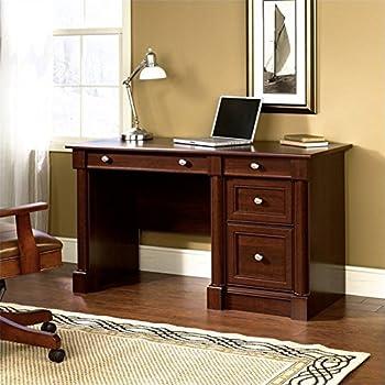 Amazon Com Sauder Palladia Computer Desk Cherry Kitchen