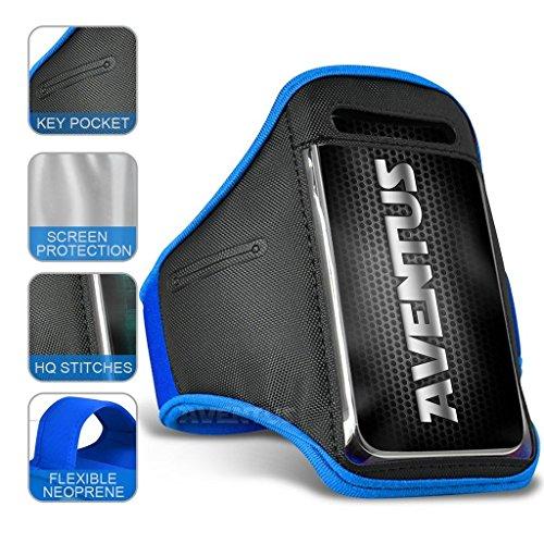 Aventus Motorola Moto X Play (2016) (Baby Blau) Voll einstellbare Leicht Hulle Armband-Halter-Kasten-Abdeckung Running, Walking, Radfahren, Fitnessraum und andere Sportarten