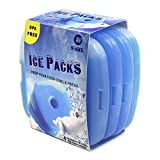 Lunch Ice Packs Slim Cool Cooler Freezer Blocks for Lunch Chill Box, Keep Food Cold Fresh Health, Great for Almost Lunch Boxes/Bags