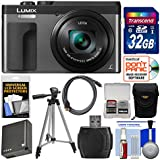 Panasonic Lumix DC-ZS70 4K Wi-Fi Digital Camera (Silver) 32GB Card + Case + Battery + Tripod + Cleaning Kit