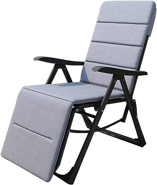 Sillas reclinables Sillas de gravedad cero Tumbonas ajustables Tumbonas reclinables para sillas de playa en el jardín Tumbona con almohadilla de algodón para sentarse en el exterior y tumbarse: Amazon.es: Hogar