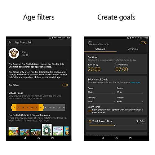 Fire HD 10 Kids Edition Tablet | 10.1″ 1080p Full HD Display, 32 GB, Blue Kid-Proof Case