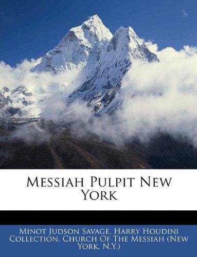 Read Online Messiah Pulpit New York PDF
