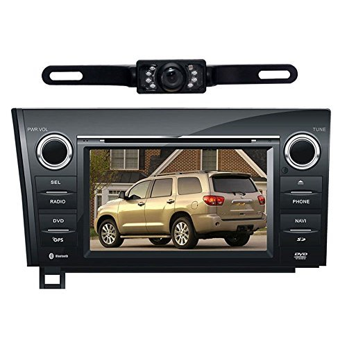 "Susay® For TOYOTA Sequoia/ TOYOTA Tundra 7"" Indash CAR DVD Player GPS Navigation Navi iPod Bluetooth Rear Camera HD Touchscreen TV Radio RDS FM PIP Free Map CD6099R"